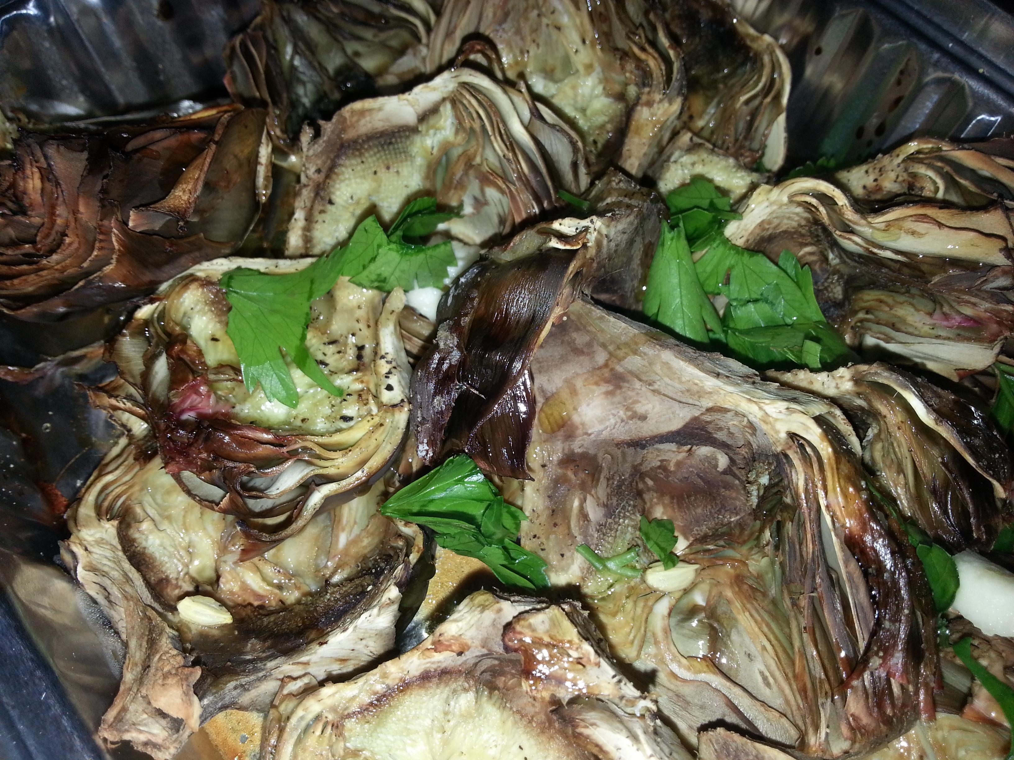 Carciofi romani al forno la cucina di giulie for Secondi romani