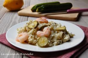 risotto alle zucchine, gamberi e limone