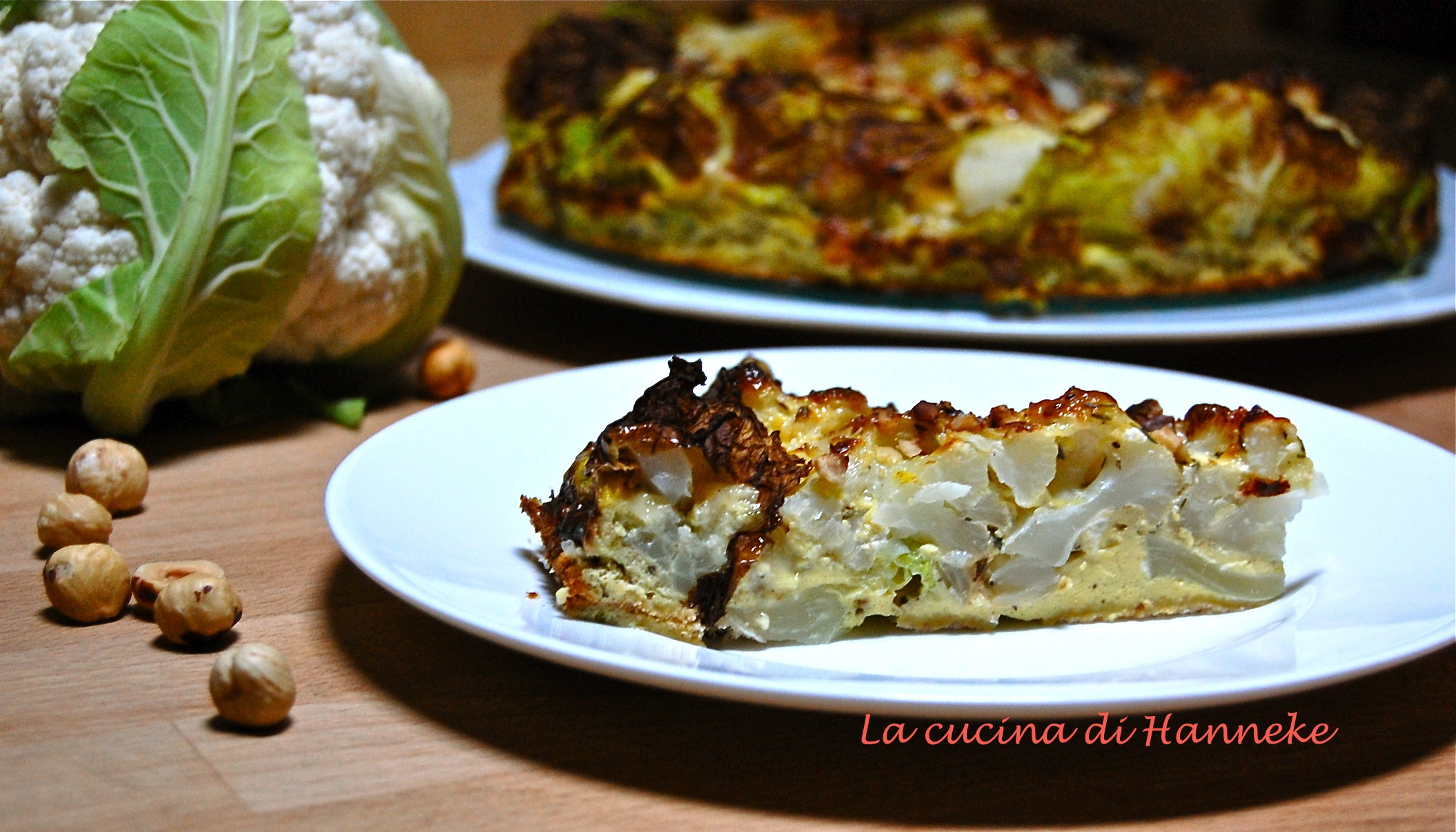 Torta salata al cavolfiore, ricetta light