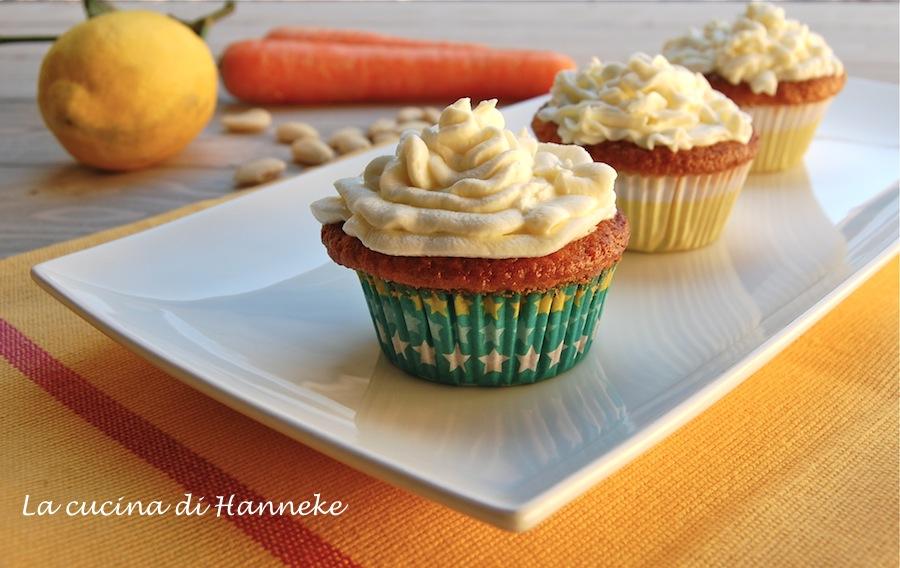 Cupcake alle carote e mandorle