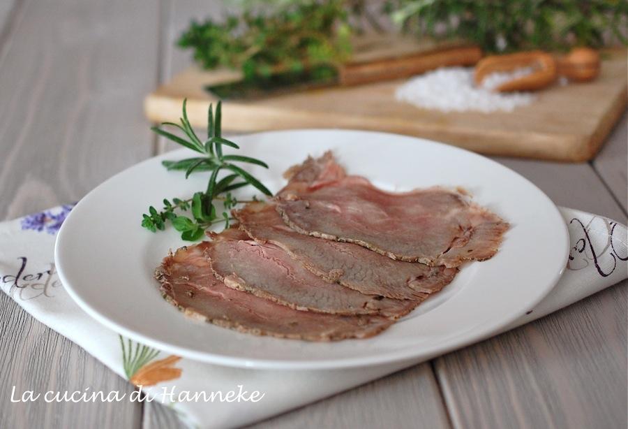 Roast beef al sale e agli aromi