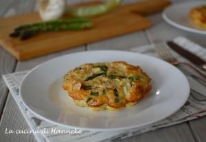 Frittata al forno agli asparagi e prosciutto