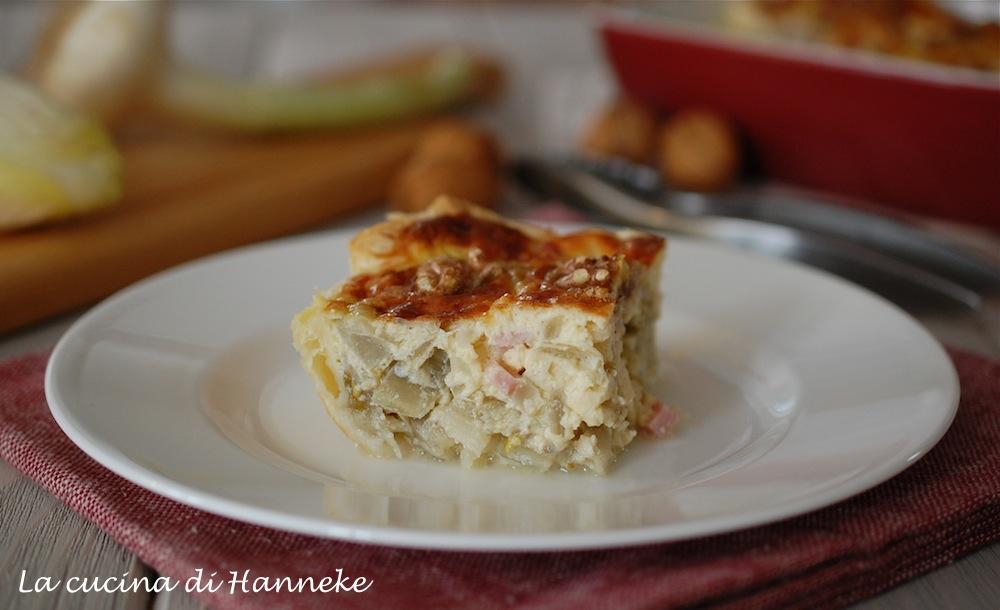 torta salata con indivia belga