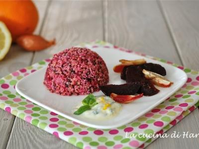 Insalata di quinoa alle barbabietole