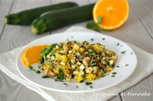 quinoa alle verdure e arancia
