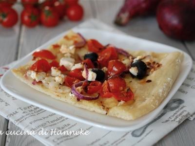 pizza bianca alla greca