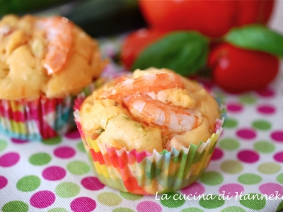 muffin con gamberi