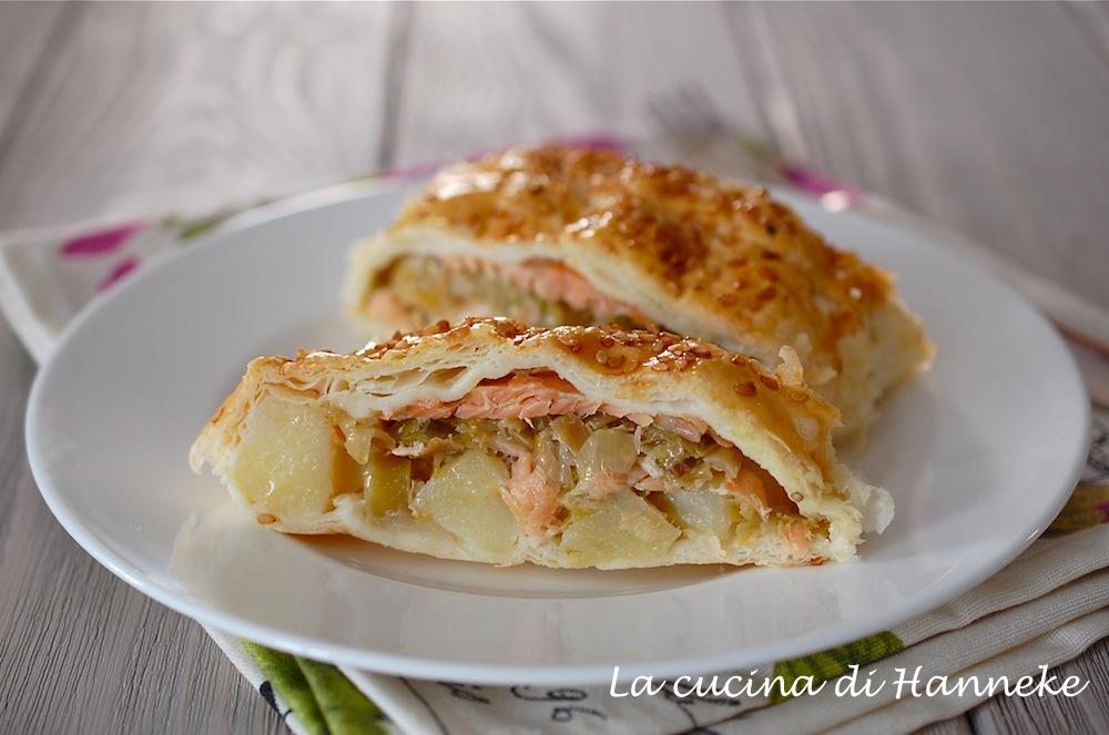 Strudel al salmone, patate e porri | La cucina di Hanneke