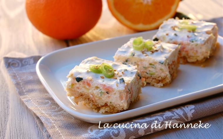 Cheesecake salata al salmone e zucchine