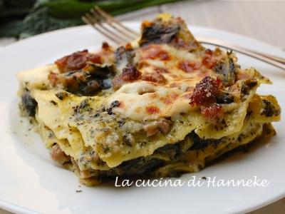 lasagne con salsiccia