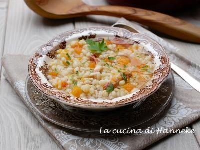 minestra con orzo e zucca