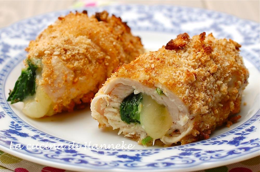 Involtini di pollo con spinaci
