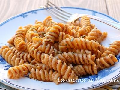 pasta con crema di pomodori