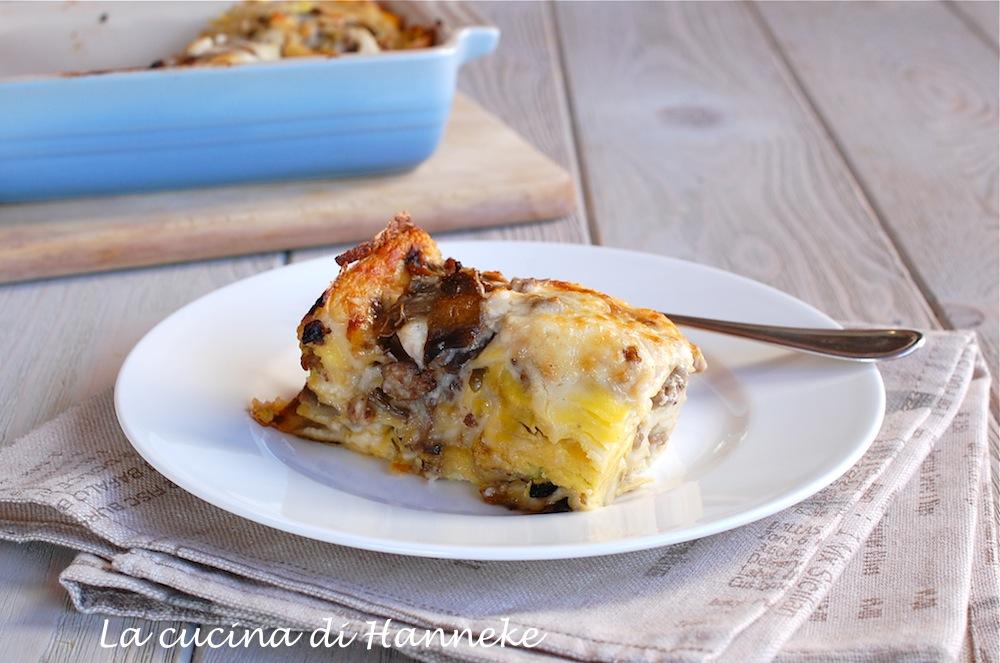 Lasagne al Radicchio e Salsiccia