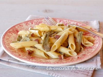 pasta ai carciofi e pancetta