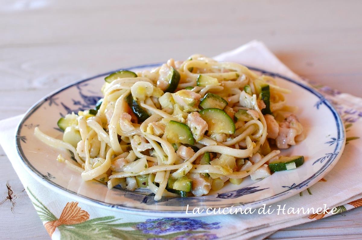 Linguine al pesce spada, limone e zucchine