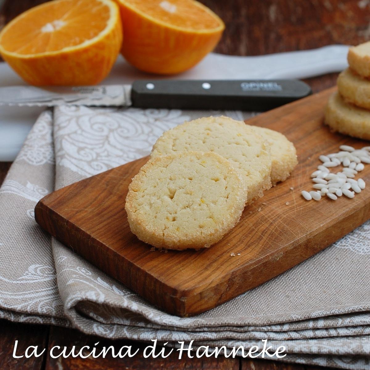 Biscotti con Farina di Riso all'arancia Senza Glutine