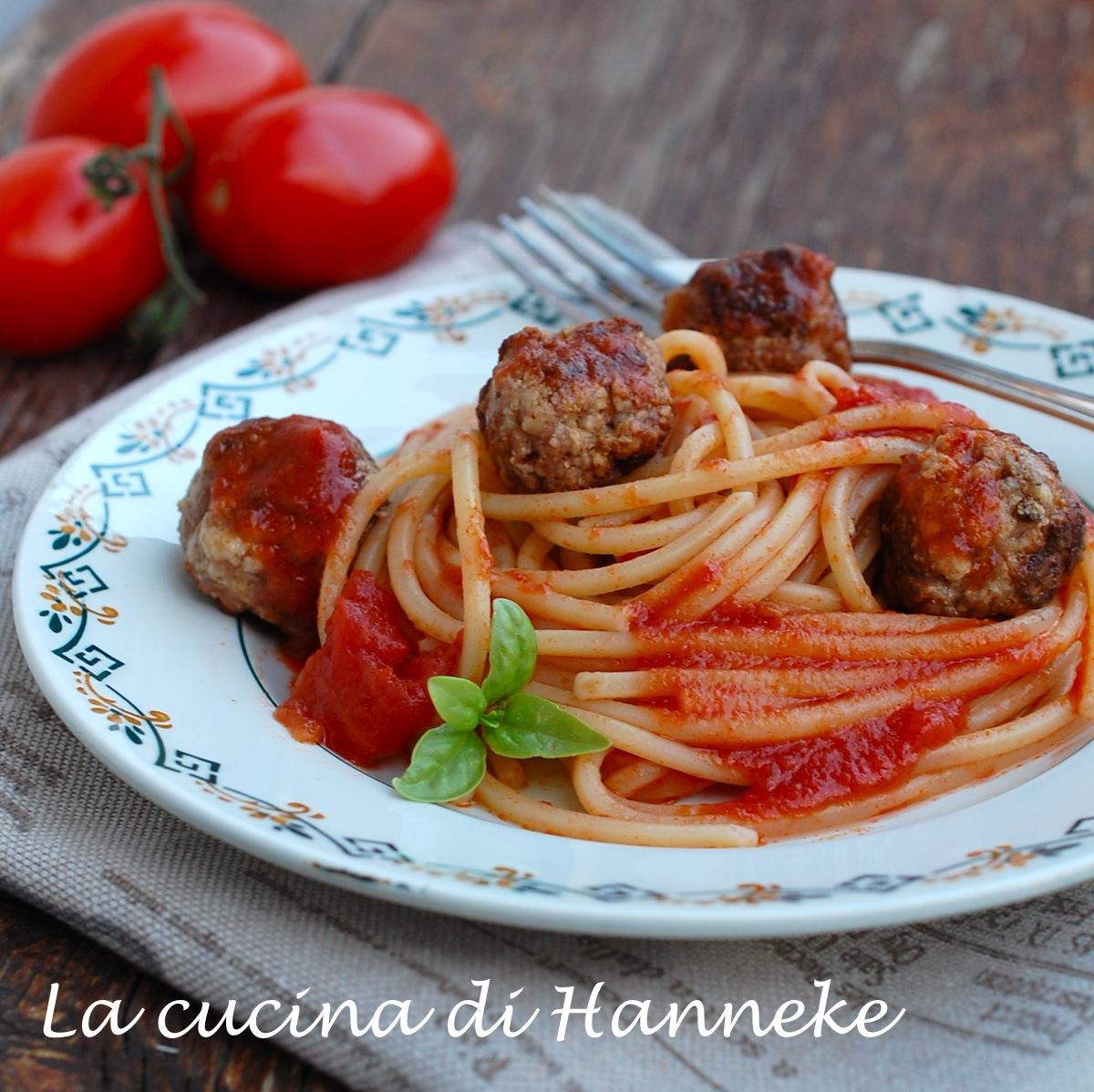 Spaghetti con Polpette di Salsiccia