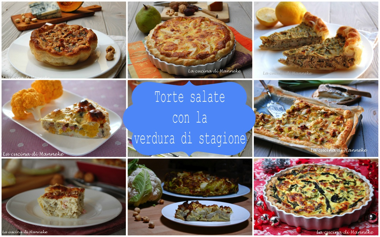 Torte salate con la verdura di stagione