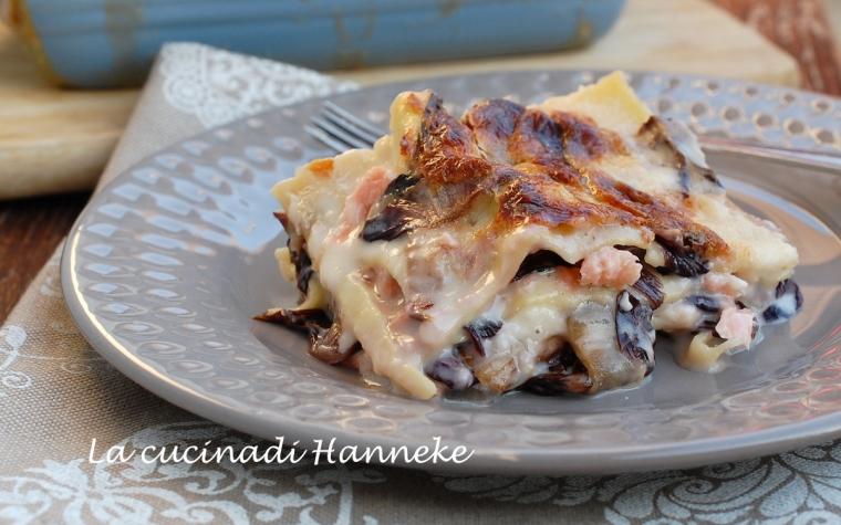 Lasagne al salmone e radicchio