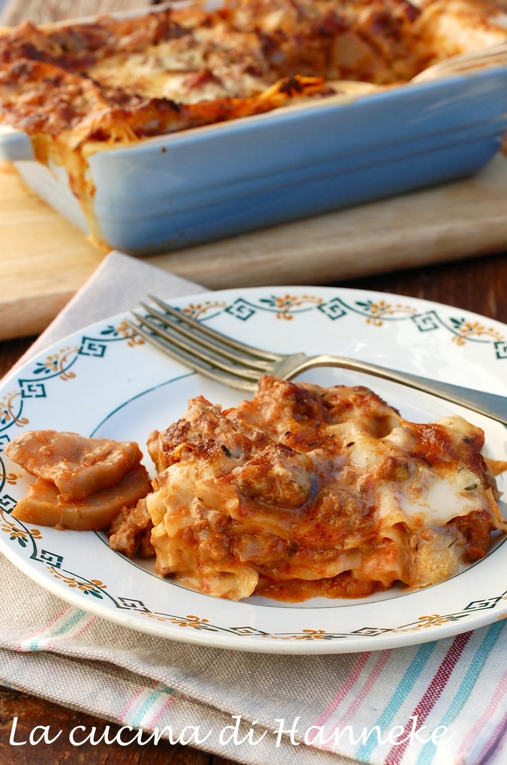 Lasagne al ragù di porcini