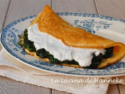 Omelette con spinaci e ricotta