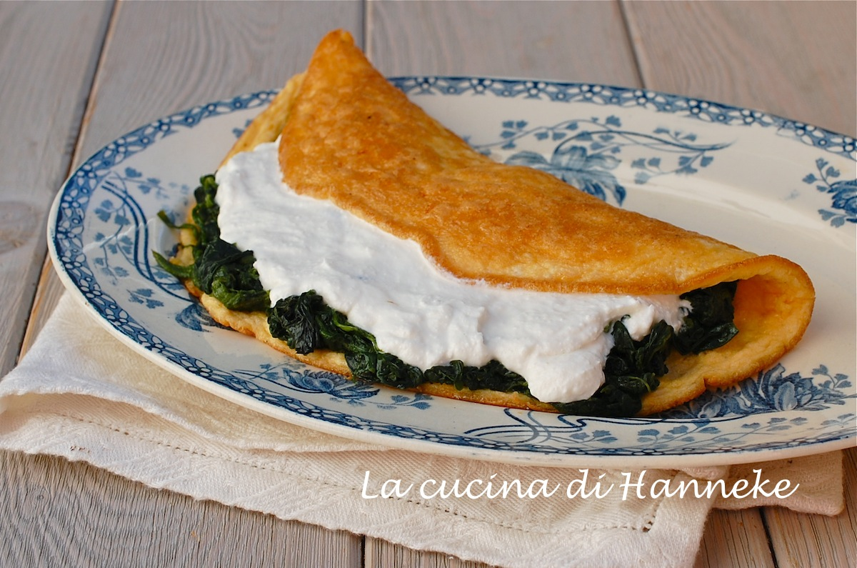 Ricetta Omelette Ricotta E Spinaci.Omelette Con Spinaci E Ricotta Ricetta Leggera