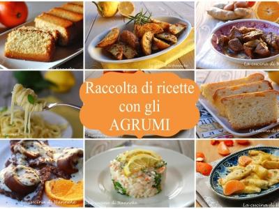 Raccolta di ricette con gli agrumi