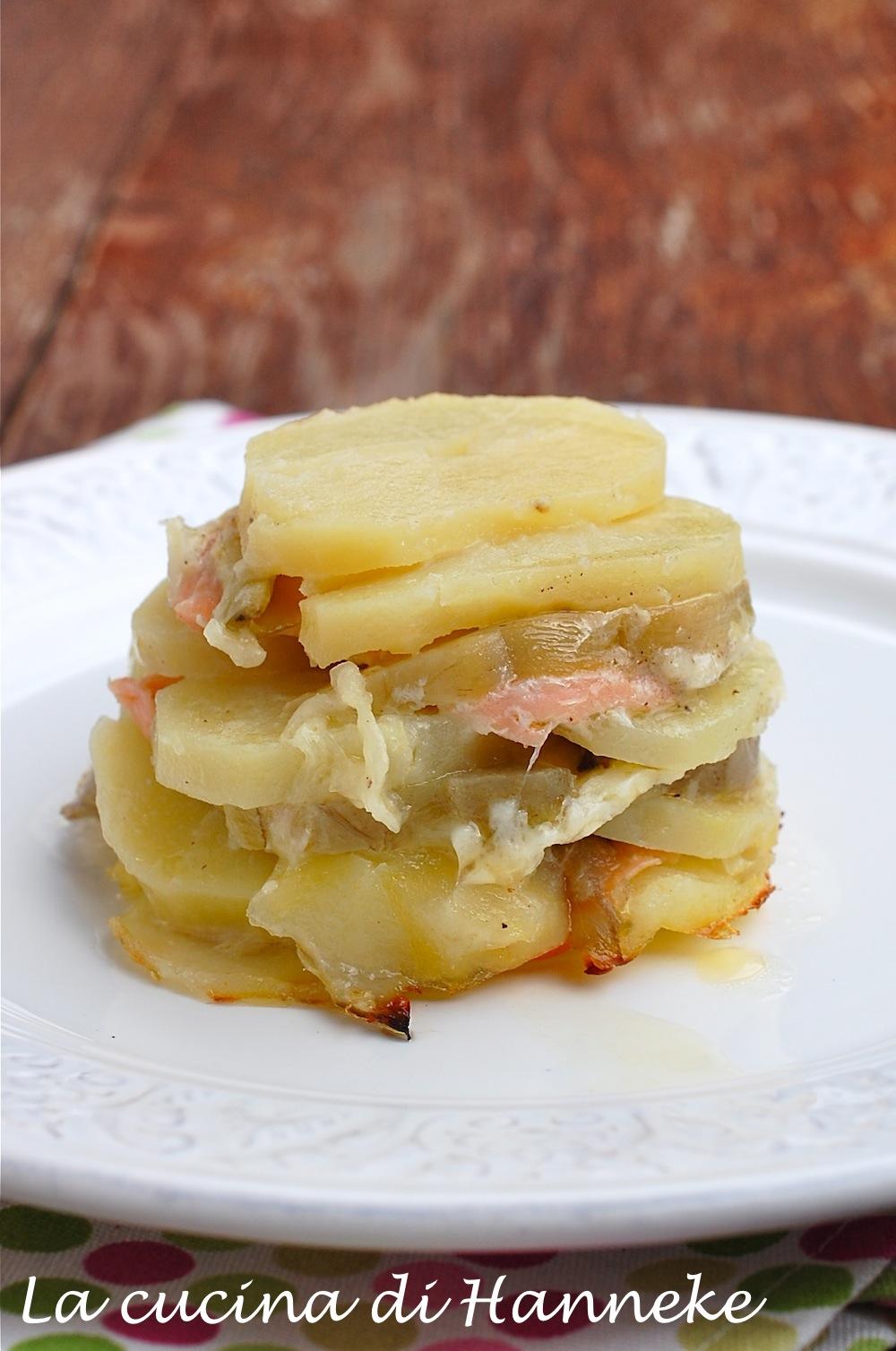 Tortino di patate salmone