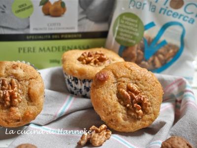 Muffin alle pere e noci