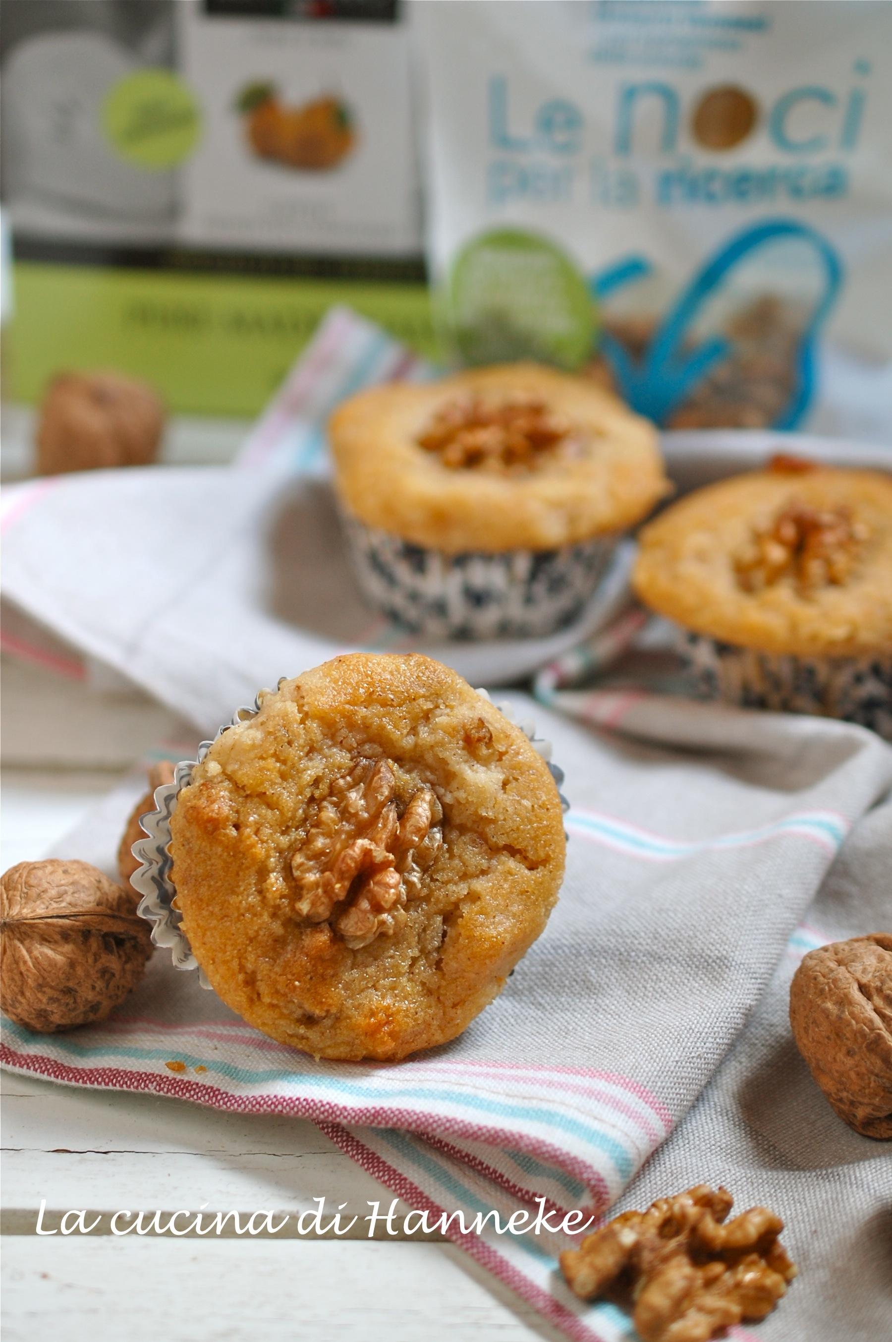 Muffin alle Pere Madernassa e Noci | Ricetta Senza Glutine