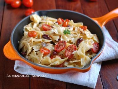 Pasta con pomodorini confit