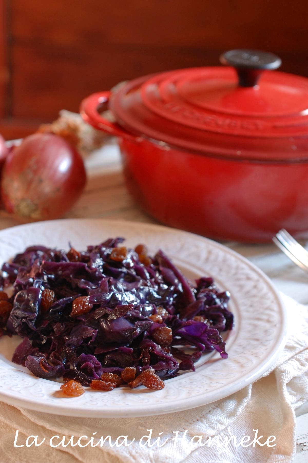 Cavolo rosso stufato arancia uvetta ricetta olandese
