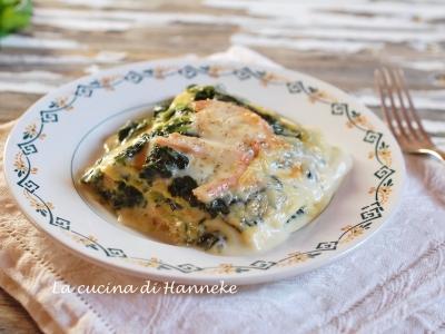 Lasagne al salmone e cime di rapa ricetta per le feste