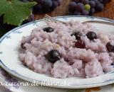 Risotto con uva fragola e salamella