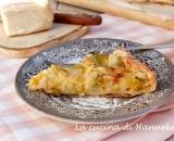Torta salata con porri, patate e taleggio