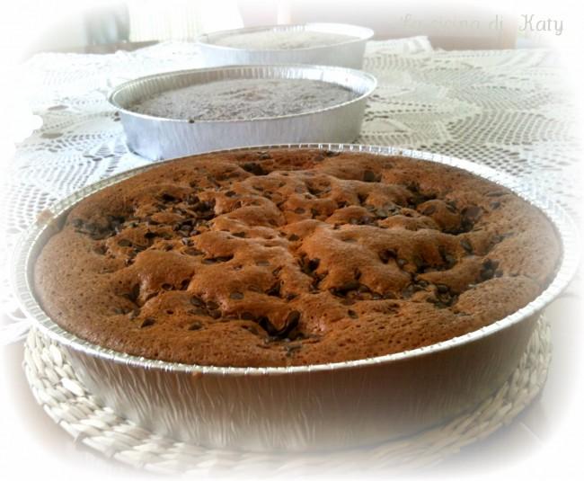torta, torta yogut, yogurt, cioccolato, gocce di cioccolato
