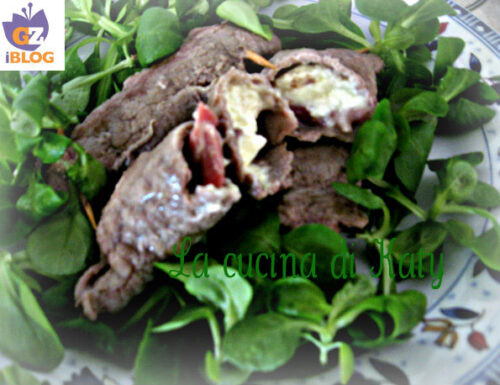 Involtini di carne pancetta affumicata e formaggetta