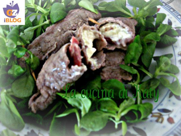 involtini con pancetta affumicata e formaggetta, involtini di carne, involtini, pancetta affumicata, formaggettta