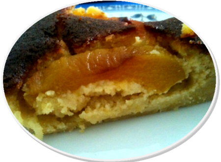 Crostata mandorlina con pesche