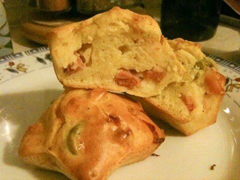 Muffins pancetta e olive