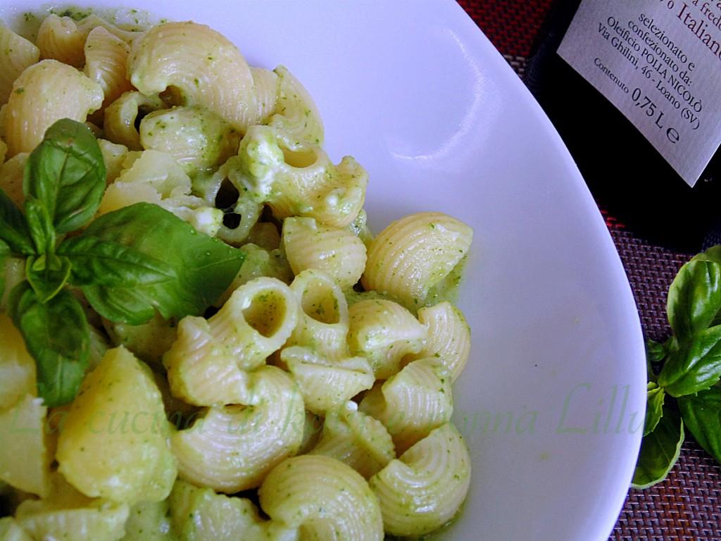 pasta al pesto e patate