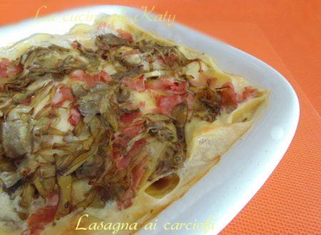Lasagna ai carciofi-ricetta primavera