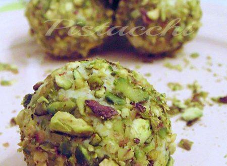 Palline di ricotta ai pistacchi