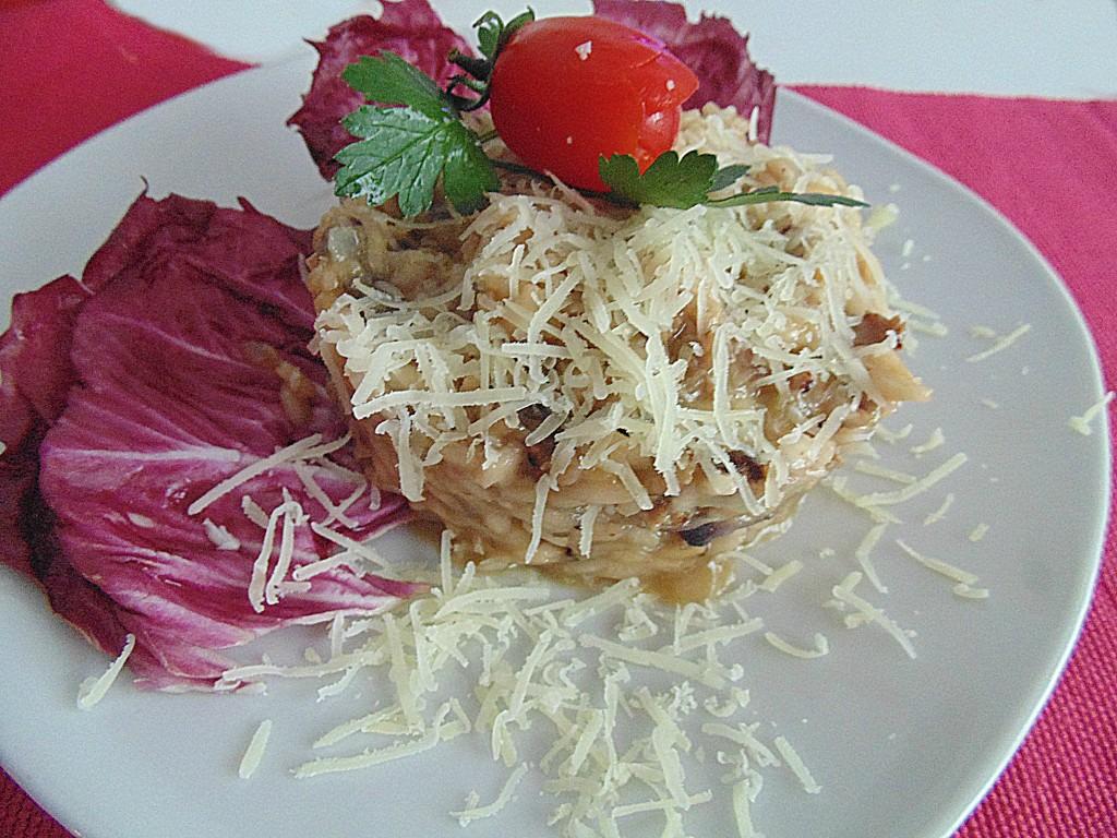 risotto alla salsiccia filante