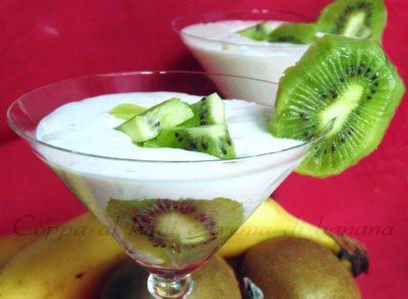 Coppa kiwi con crema di banana