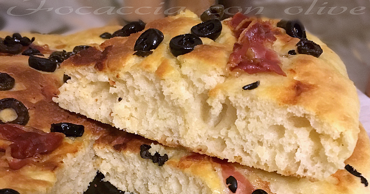 Focaccia con olive