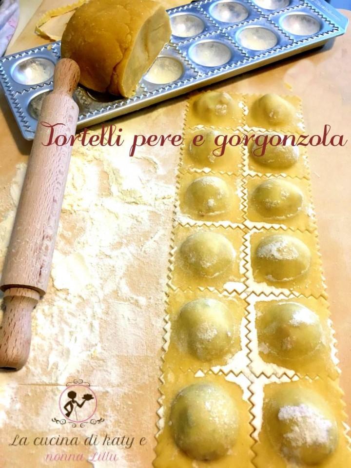 tortelli pere e gorgonzola