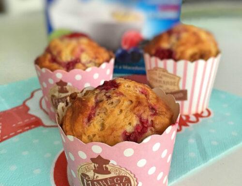Ricetta dei muffin ai lamponi con Dietor blu