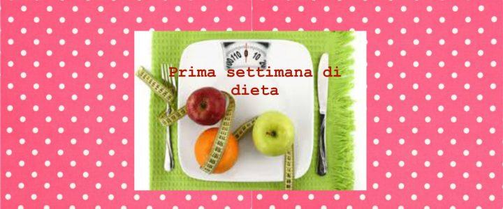 Diario della prima settimana di dieta